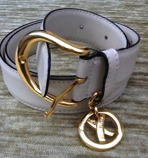 Paloma Picasso Cream & Gold Belt.