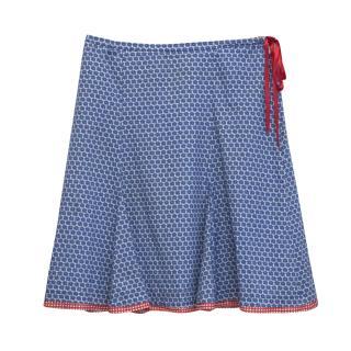 Avoca Anthology Blue Patterned Skirt