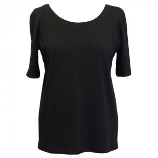 Lisa Perry Black Jersey Top