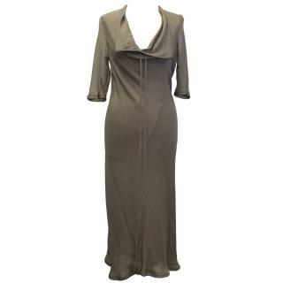 Revillon Brown Silk Dress