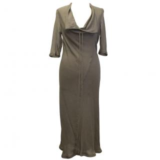 Revillon Brown Silk Dress