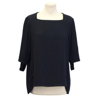 Stella McCartney Boxy Navy Top