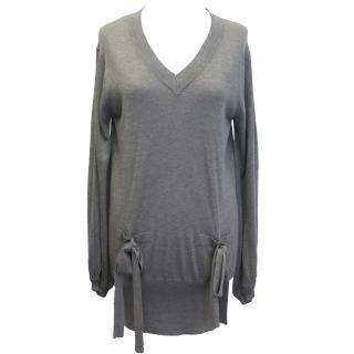 Mulberry Grey V-neck Sweater