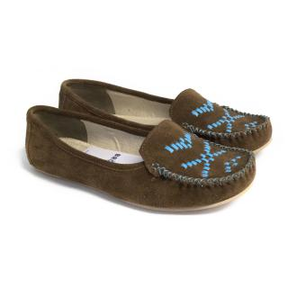 Bora brown suede mocassins