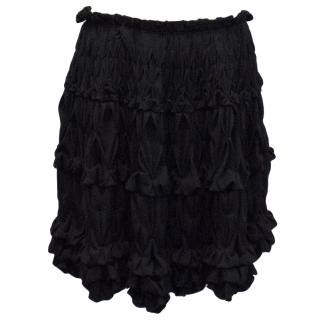 Roberta Furlanetto black ruffle skirt