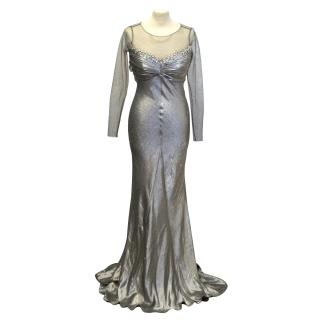 Suzanne Neville silver gown