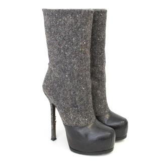 Yves Saint Laurent wool blend boots