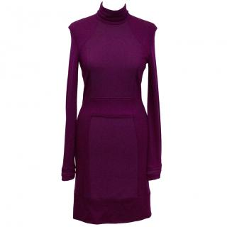 Selfridges Purple Turtleneck Dress
