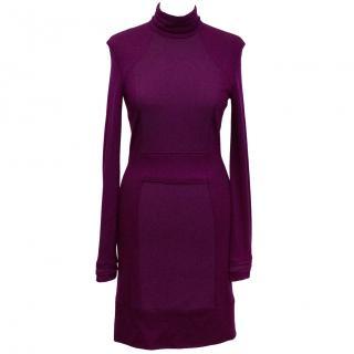 Selfridges Purple Turtleneck Dress