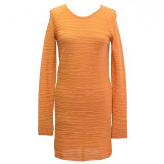 Dagmar orange textured dress
