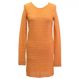 Dagmar orange textured dress