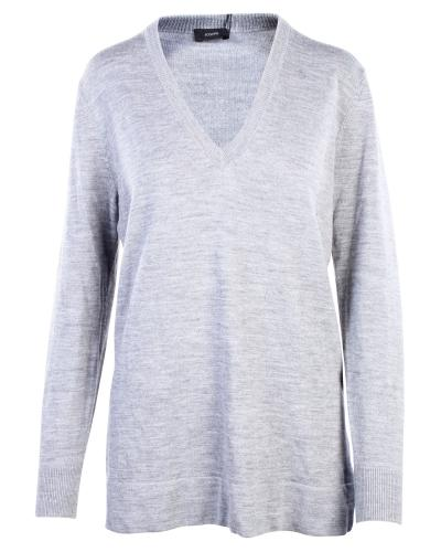 Joseph Grey Wool Sweater