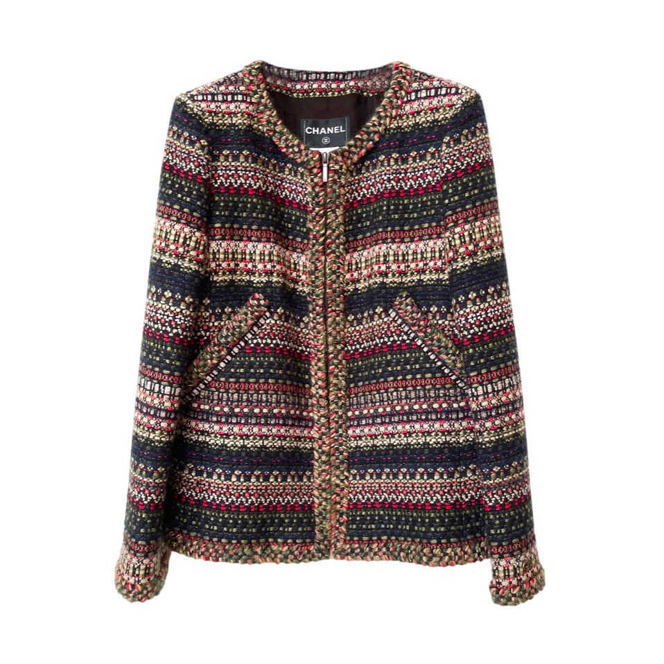 Chanel Paris/Salzburg Green Tweed Jacket