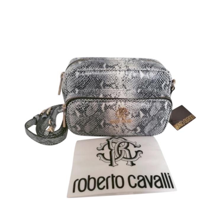 Roberto Cavalli Snakeskin Embossed Shoulder Bag