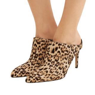 Sam Edelman Leopard Calf Hair Heeled Mules