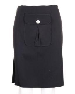 Celine Black Vintage Pocket Skirt