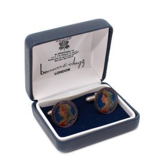 Benson & Clegg Queen Victoria Farthing Coin Cufflinks
