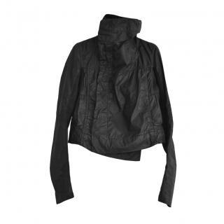 Rick Owens Black Waxed Cotton Jacket