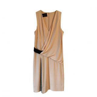 Cedric Charlier Sleeveless Pleated Dress