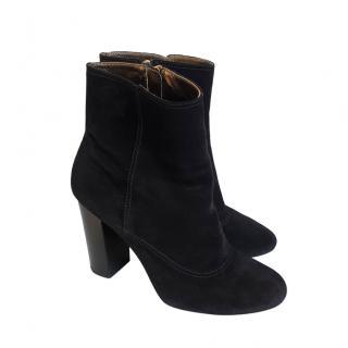 Lanvin Black Suede Ankle Boots