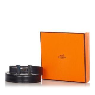 Hermes 27mm Reversible Constance Leather Belt - Size 75