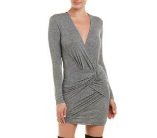 IRO Grey Quantu Wool-blend Mini Dress