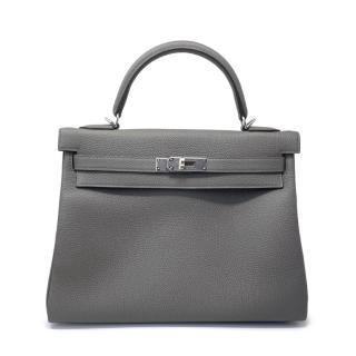 Hermes Gris Etain Togo Leather Kelly Retourne 32 PHW