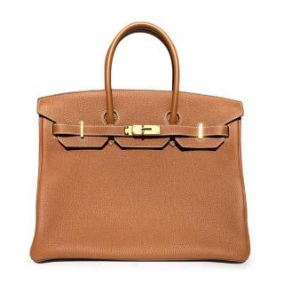 Hermes Gold Togo Leather Birkin 35 GHW