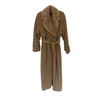 Louis Feraud Vintage Coat with Wool Collar