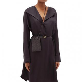 Bottega Veneta Black Intrecciato Leather Mini Pouch Crossbody Bag