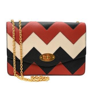 Mulberry Darley Tricolour Zigzag Chain Strap Shoulder Bag