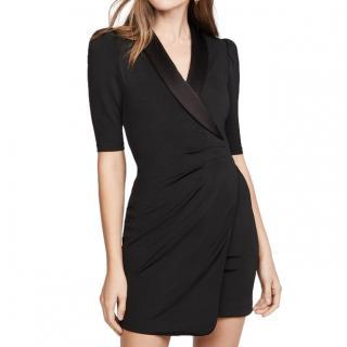 Alice & Olivia Remi Black Stretch-Jersey Tuxedo Dress