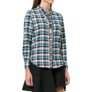 Isabel Marant Etoile Awendy Ruffled Check Shirt