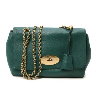 Mulberry Lily Medium Emerald Green Leather Shoulder Bag