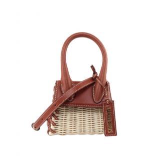 Jacquemus Leather & Wicker Le Chiquito Mini Bag