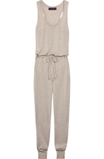 Stella McCartney Taupe Cashmere Silk Knit Jumpsuit