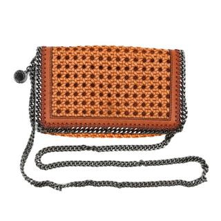 Stella McCartney Tan Falabella Box Wicker Crossbody Bag