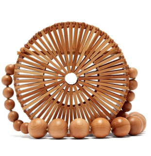 Cult Gaia Lana Bamboo Basket Shoulder Bag
