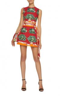Dolce & Gabbana Cabbage Print Cropped Runway Top