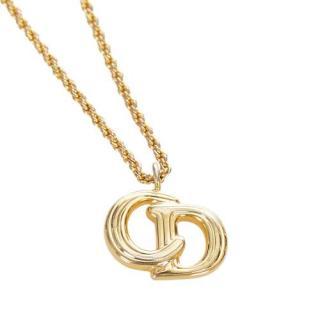 Dior Gold-Tone CD Pendant Necklace