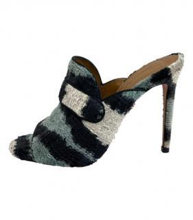 Aquazzura Tweed Multicoloured Mules