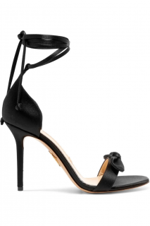 Charlotte Olympia Shelley Satin Lace-Up Sandals