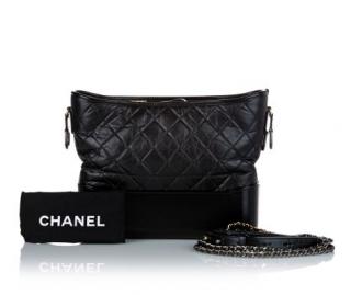 Chanel Black Aged Calfskin Gabrielle Bag