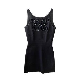 Boutique Moschino Black Embellished Mini Dress