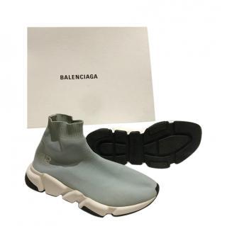 Balenciaga sky blue bb sock sneakers