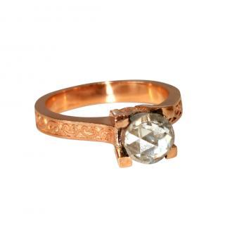 Bespoke Rose Gold/Silver Georgian Diamond Ring