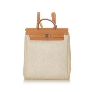 Hermes Herbag Canvas Backpack