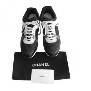 Chanel Black & Grey CC Sneakers