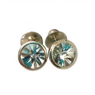 Henrich & Denzel Aquamarine Platinum Set Earrings