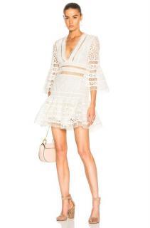 Zimmermann Lovelorn Ivory Cotton Broderie Anglaise Mini Dress
